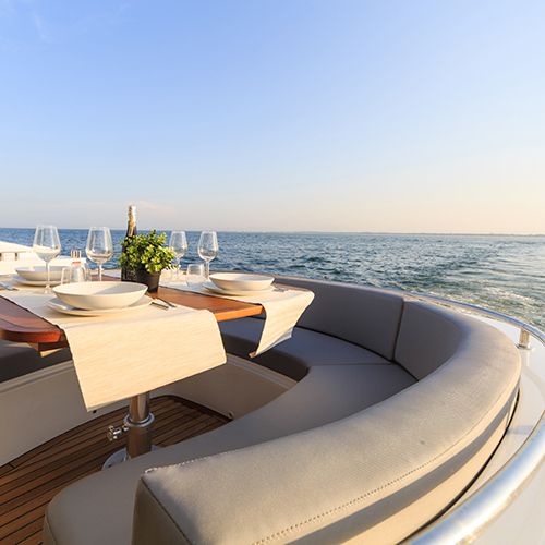 Serving dinner on luxury yachts
